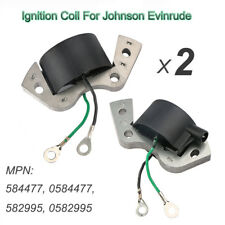 2x Ignition Coil For Johnson Evinrude OMC Replaces 584477 0584477 582995 0582995