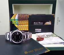 NEW ROLEX 18kt White Gold & Stainless Datejust Black Index 116234 SANT BLANC