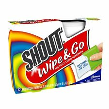 Shout Wipe - Go Instant Stain Remover Wipes 13 ea