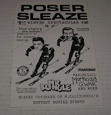 Poser Sleaze Rare 1991 #10 Gwar Morticious Gwar Etc Out Of Print