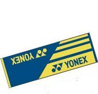 Yonex Sport Towel AC10019TR-002, 100% Cotton, 100 x 33cm, Blue/Yw, Taiwan Made