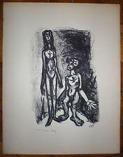 Lartigue Dany Lithographie signée 1945 expressionnisme Saint Tropez Paris