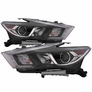 FITS NISSAN MAXIMA 2016 2017 LEFT RIGHT HEADLIGHTS HEAD FRONT LAMPS LIGHTS PAIR
