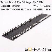 300x60x2mm Tag strip Terminal Turret BOARD Vintage HIFI Guitar Amp DIY Black 1PC