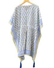 Cotton Boho Caftan Hippie Night Dress Kaftan Beach Wear Poncho Short Maxi IN1
