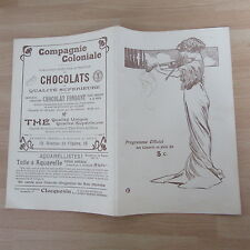 PROGRAMME CONCERT MUSIQUE DU 24° REGIMENT D'INFANTERIE 1912 SQUARE TROUSSEAU