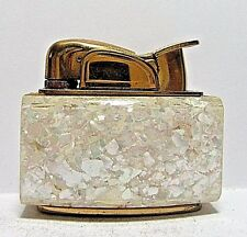 Vintage Evans Lighter, Unusual Crushed Pearl Panels, Working, Made In USA,Rare