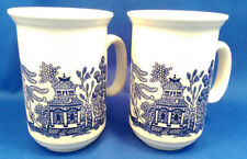 Willow Pattern Transfer Ware Pottery Tableware Mugs