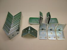 Paquet de 50 Résistant 2mm Fixation D'Angle 50x50x35 Angle lit/cadre réparation