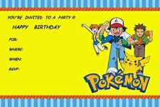 Nintendo POKEMON Game Girls Boys Birthday Party Invitations 10PCS