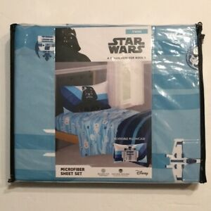 New Star Wars 'Racing Stripes' 3-Piece Microfiber Twin Sheet Set. 100% Polyester