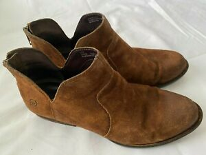 BORN Kerri D89918 Brown Suede Leather Booties Boots Shoes Women's Size 8.5 M