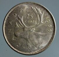 1966 Canada quarter - this 25 cent coin is 80% silver