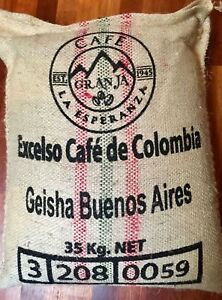 GEISHA Colombia La Esperanza Granja Coffee Beans Fresh Roasted Daily 10 Pounds