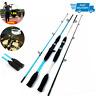 Carbon Fiber Spinning Casting Rod Ultra Light Travel Fishing Rod Lure Hand Pole