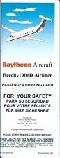 Safety Card - Raytheon - Beech 1900D - 1998 (S4038)