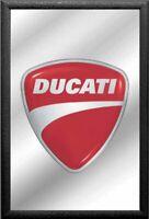 Ducati Etiqueta Logo Roja Nostalgia Espejo de BAR Espejo BAR Espejo 22 X 32CM