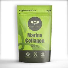 Colágeno marino 180 X 400mg Cápsulas Skincare, ✔ UK Made ✔ Letterbox amigable