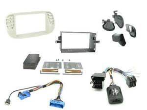 FIat 500 Stereo Radio Fascia Facia Panel Fitting KIT Surround Adaptor Black