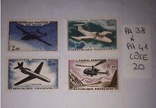 Timbre Poste Aérienne Série PA38 à PA41 Neuf** - Prototypes - 1960/64