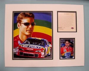 1998 JEFF GORDON #24 Nascar 11x14 MATTED Kelly Russell Lithograph Print