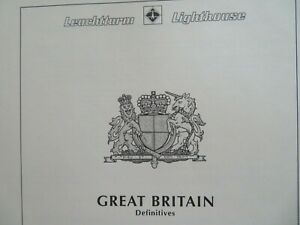 GB Lighthouse illustrated album pages EII definitives, high values & regionals