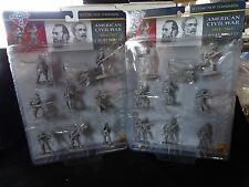 CONTE CONFEDERATE Army GETTYSBURG LEE JACKSON16 FIG Plastic Set 1 MINT ON CARDS