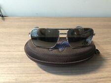 Maui Jim Compass Polarized Aviator Sunglasses-Silver-Includes Accessories