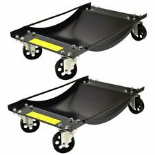 Set of 2 Vehicle Positioning Wheel Dolly Heavy Duty Dollies - 450kg Per Dolly