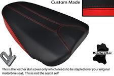 RED & BLACK CUSTOM FITS APRILIA TUONO 125 REAR PILLION LEATHER SEAT COVER