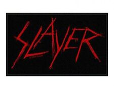 SLAYER scratched logo 2009 - WOVEN SEW ON PATCH official merchandise