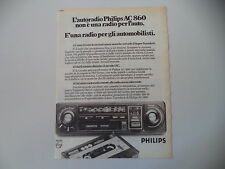 advertising Pubblicità 1977 AUTORADIO PHILIPS AC 860