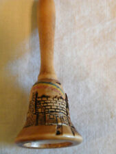 Unique Carved Wood Bell Shape Signed Bill Dent Nice