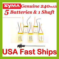1x Main Shaft & 5x 240mAH ENHANCED Battery S107G-19 S107-19 S107-13 Genuine SYMA