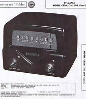 SYLVANIA C32M Tel. UHF Converter 's Service Manual Photofact w-Schematic