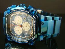 Aqua Master Jojo Joe Rodeo W#143 81-6 Blue Stainless Steel Diamond Watch 1.0 Ct