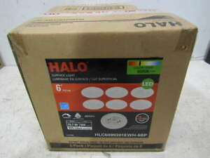 """Lot of 2 Halo White 6"""" LED Round Surface Light (6-Pack) HLC6099301EWH-6BP"""