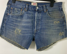vintage Levis Womens Distressed Denim Short W34 Inch