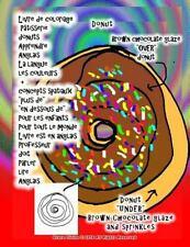 Livre de Coloriage Pâtisserie Donuts Apprendre Anglais la Langue les Couleurs...