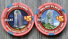 """New listing (2) Palms Las Vegas $5 Ground Breaking & Grand Opening """"Uncirculated"""""""