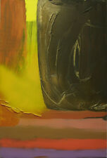YELLOW & BLACK ORIGINAL PAINTING ON CANVAS - SIGNED - 24 x 36 inch (60 x 90 cm)