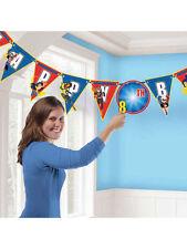 BATGIRL Supergirl Partito Decorazione 10PD aggiungere un' età Buon Compleanno Lettera Banner