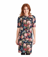 Boat Neck Midi Floral Dresses for Women