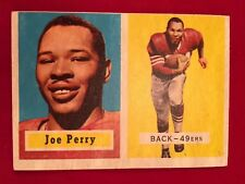 1957 Topps #129 Joe Perry Card, San Francisco 49ers
