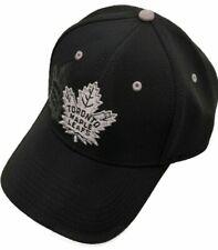 Men's Toronto Maple Leafs American Needle NHL Platinum Deboss Black Cap Hat OSFM
