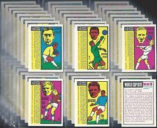 ANGLO-FULL SET- WORLD CUP 1970 FOOTBALL (L48 CARDS) PELE BRAZIL - EXC+++