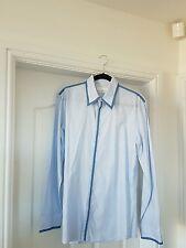 Alexander MCQUEEN di marca da uomo blu a righe pin camicia