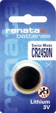 10 x Renata CR2450 Watch Batteries, 3V Lithium, 2450 3 Volts