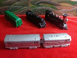 Vintage Lot 5- Colorful Midge Toy Die Cast Metal trains