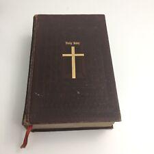 Holy Bible Catholic Family Edition Embossed Premium Bound John J Crawley 1953